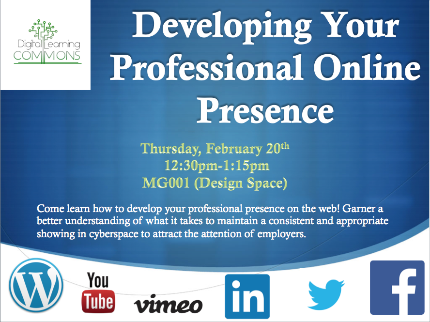 Developing Your Professional Online Presence