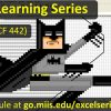 Excel Learning Series – Fall 2017